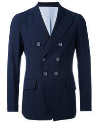 Giorgio Armani | Blue Double Breasted Blazer for Men | Lyst