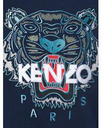 KENZO - Blue Tiger Sweatshirt for Men - Lyst
