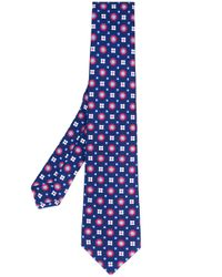 Kiton - Blue Floral Print Tie for Men - Lyst