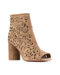 Ash - Green Laser Cut Ankle Boots - Lyst