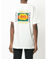 Gucci White Tiger Face T-shirt