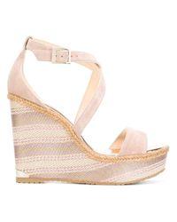 Jimmy Choo | Natural Portia Wedge Sandals | Lyst