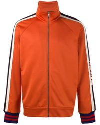 Gucci | Orange Technical Gg Web Jacket for Men | Lyst