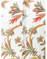 McQ Alexander McQueen - White Floral Print Shirt for Men - Lyst