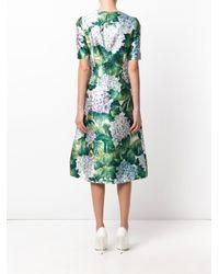 Dolce & Gabbana | Green Hydrangea Print Dress | Lyst