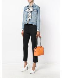 Fendi - Orange Dotcom Click Quilted Shoulder Bag - Lyst