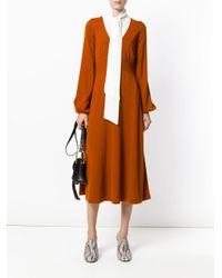 Chloé - Orange Knitted Dress - Lyst