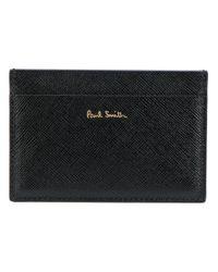 Paul Smith - Black 'saffiano' Cardholder for Men - Lyst