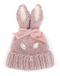 CA4LA | Pink Rabbit Ears Beanie | Lyst