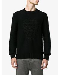 Alexander McQueen - Black Skull Jacquard Jumper for Men - Lyst