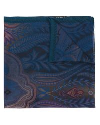 Etro | Blue Floral Pattern Scarf for Men | Lyst