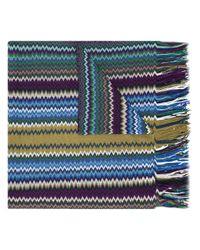 Missoni | Blue Patterned Knit Scarf | Lyst