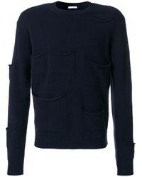 J.W. Anderson | Blue Pocket Detail Sweater for Men | Lyst