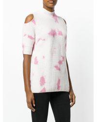 Zoe Jordan - Pink Ribbed Tie Dye Jumper - Lyst