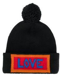 61217d9ef16 Fendi Love Bobble Hat in Black for Men - Lyst