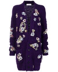Faith Connexion - Purple Embellished V-neck Cardigan - Lyst