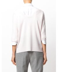 Max Mara - Pink Cashmere Knitted Top - Lyst