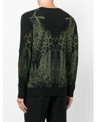 Marcelo Burlon - Black Leopard Intarsia Knit Jumper for Men - Lyst