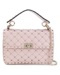 Valentino - Pink Garavani Rockstud Spike Crossbody Bag - Lyst