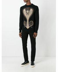 Givenchy - Black Cobra Knitted Jumper for Men - Lyst
