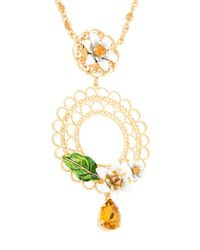 Dolce & Gabbana - Metallic Floral Cage Necklace - Lyst