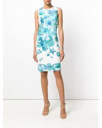 Roberto Cavalli - Blue Fitted Sea Creature Dress - Lyst
