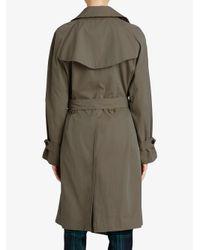 Burberry - Green Gabardine Trench Coat - Lyst