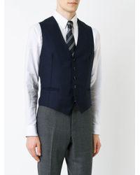 Tagliatore - Blue Buttoned Waistcoat for Men - Lyst