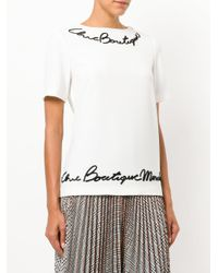 Boutique Moschino - White Appliqué Detail Top - Lyst