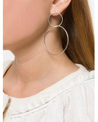 Isabel Marant - Metallic Interlocked Hoop Earrings - Lyst