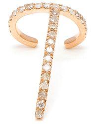 Asherali Knopfer - Metallic 18k Rose Gold 'theo' Diamond Earring - Lyst