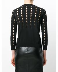 Rochas - Black Perforated Cardigan - Lyst