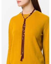Chloé - Red Draped Tassel Necklace - Lyst