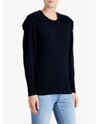 Burberry - Blue Military Braid Detail Sweater - Lyst