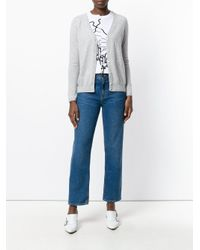 N.Peal Cashmere   Gray V-neck Cardigan   Lyst