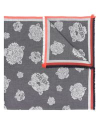 KENZO - Gray Tiger Patch Scarf - Lyst