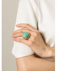 Aurelie Bidermann - Blue 'miki Dora' Signet Ring - Lyst