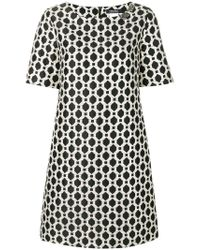 Max Mara Black Embellished Jacquard Dress