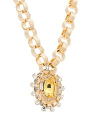 DANNIJO - Metallic Canary Necklace - Lyst