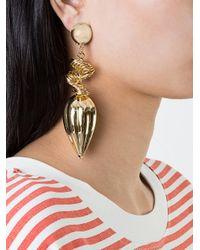 Saf Safu - Metallic Hanging Earring - Lyst