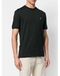 Emporio Armani - Black Angry Logo Patch T-shirt for Men - Lyst