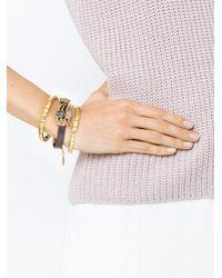 Camila Klein - Metallic Leather Trim Three-bracelet Set - Lyst