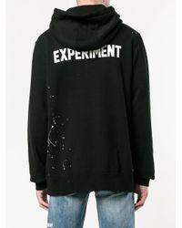 Uniform Experiment - Black Logo Print Hoodie for Men - Lyst