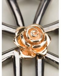 Gavello - Metallic Rose Cross Pendant Necklace - Lyst