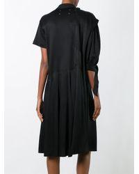 Maison Margiela | Black Asymmetric Sleeve Shirt Dress | Lyst