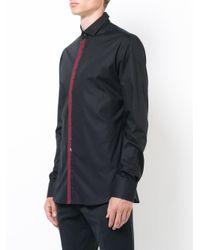 Philipp Plein - Black Contrasting Button Shirt for Men - Lyst