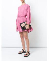 Lizzie Fortunato - Black Flower Patch Shoulder Bag - Lyst