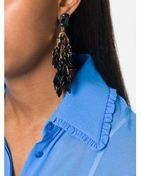Marni - Black Petal Cluster Clip On Earrings - Lyst