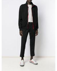 Moncler Black Contrast Zip Sweatshirt for men