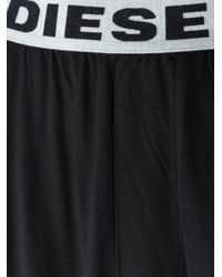 DIESEL - Black - Logo Waistband Pyjama Pants - Men - Cotton - M for Men - Lyst